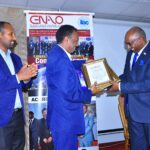 ENAO Director General Mr.Araya Fesseha giving accreditation certificate to accredited Organizations(2020)